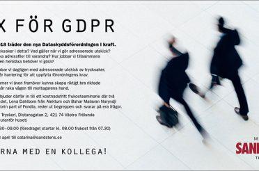 GDPR inbjudan till våra kunder