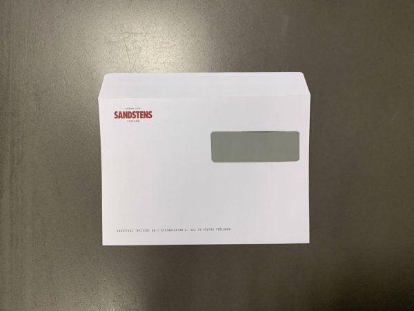 C5 kuvert med fönster